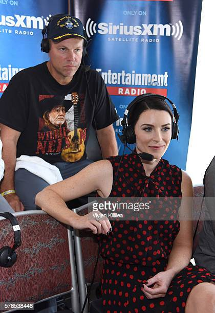 Actor Adam Baldwin and actress Bridget Regan attend SiriusXM's Entertainment Weekly Radio Channel Broadcasts From ComicCon 2016 at Hard Rock Hotel...