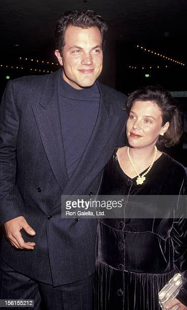 Actor Adam Baldwin and wife Ami Julius attend the premiere of 'Radio Flyer' on February 20 1992 at the Cineplex Odeon Cinema in Century City...