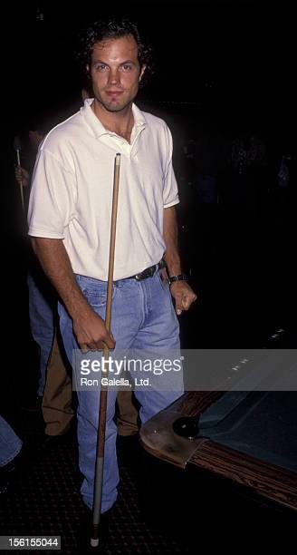 Actor Adam Baldwin attends Second Annual Celebrity Pool Tournament on June 19 1993 at the Hollywood Athletic Club in Hollywood California