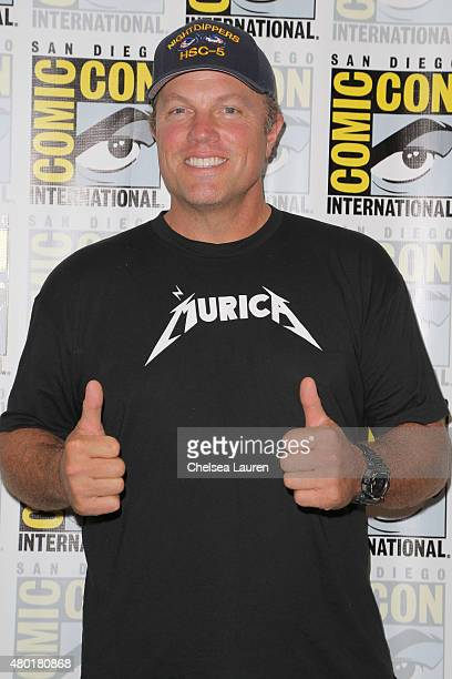 Actor Adam Baldwin attends TNT's 'The Last Ship' Press Room during ComicCon International on July 9 2015 in San Diego California