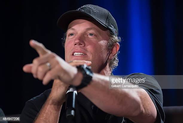 Actor Adam Baldwin attends Wizard World Comic Con Chicago 2015 Day 3 at Donald E Stephens Convention Center on August 22 2015 in Chicago Illinois