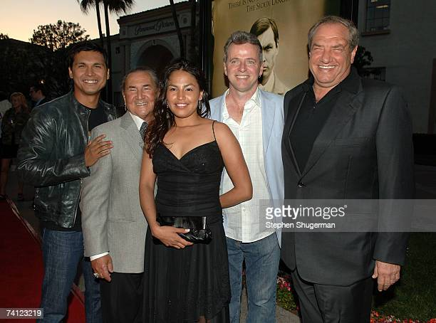 Actor Adam Beach actor August Schellenberg actor Holly Bird actor Aidan Quinn and producer Dick Wolf attend the Los Angeles premiere of HBO's Bury My...