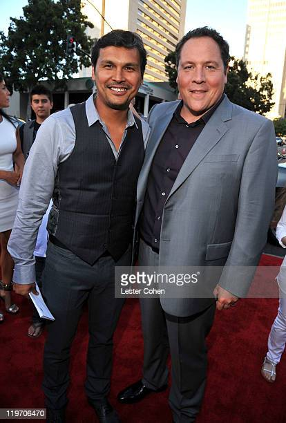Actor Adam Beach and director/executive producer Jon Favreau arrive at the 'Cowboys Aliens' World Premiere at San Diego Civic Theatre on July 23 2011...