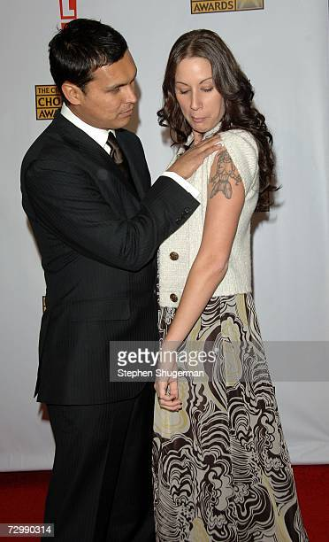 Actor Adam Beach and his wife Tara Mason arrive at the 12th Annual Critics' Choice Awards held at the Santa Monica Civic Auditorium on January 12...