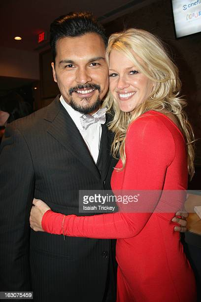 Actor Adam Beach and Shelby Fenner attend the Canadian Screen Awards at Sony Centre for the Performing Arts on March 3 2013 in Toronto Canada