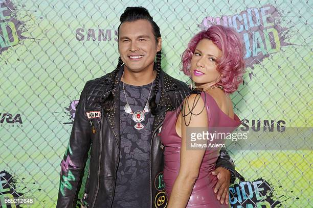 Actor Adam Beach and Summer Tiger attend the 'Suicide Squad' world premiere at The Beacon Theatre on August 1 2016 in New York City