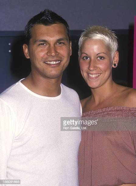 Actor Adam Beach and Tara Mason attending the premiere of 'Cherish' on June 5 2002 at UA Union Square Theater 14 in New York City