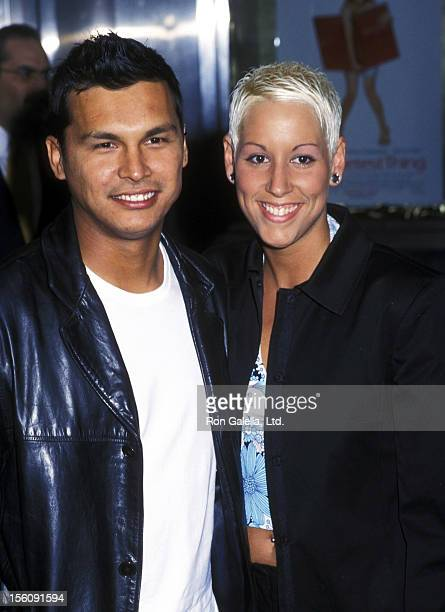 Actor Adam Beach and Tara Mason attending the premiere of 'The Sweetest Thing' on April 8 2002 at Loew's Lincoln Square Theater in New York City