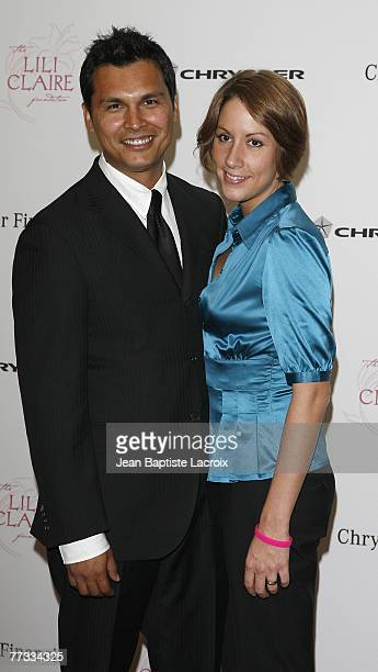 Actor Adam Beach and wife Tara arrives at the Lili Claire Foundation 10th annual benefit dinner and auction held at the Hyatt Regency Century Plaza...