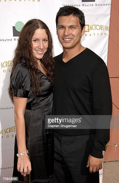 Actor Adam Beach and wife Tara Mason arrive at Tea in the Desert benefiting the Screen Actors Guild Foundation and honoring the SAG Foundation's...