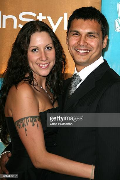 Actor Adam Beach and wife Tara Mason arrives at the In Style Magazine and Warner Bros Studios Golden Globe After Party held at the Beverly Hilton on...