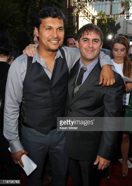 Actor Adam Beach and writer/producer Roberto Orci attend the Premiere of Universal Pictures 'Cowboys Aliens' during ComicCon 2011 at San Diego Civic...