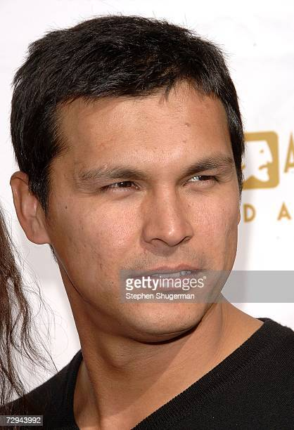 Actor Adam Beach arrives at 'Tea in the Desert' benefiting the Screen Actors Guild Foundation and honoring the SAG Foundation's first Patron of the...