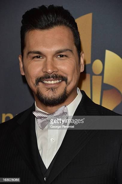 Actor Adam Beach arrives at the Canadian Screen Awards at the Sony Centre for the Performing Arts on March 3 2013 in Toronto Canada