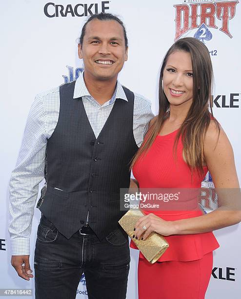 Actor Adam Beach arrives at the 'Joe Dirt 2 Beautiful Loser' world premiere at Sony Studios on June 24 2015 in Los Angeles California