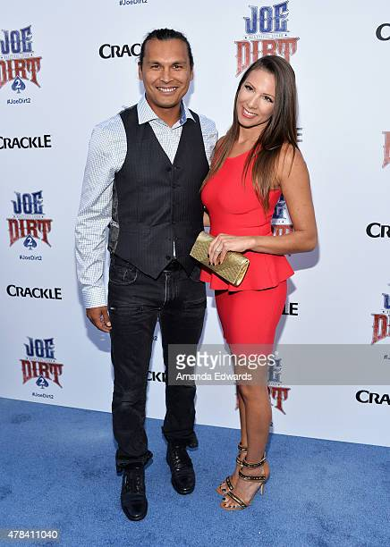 Actor Adam Beach arrives at the world premiere of 'Joe Dirt 2 Beautiful Loser' hosted by Crackle at Sony Studios on June 24 2015 in Los Angeles...