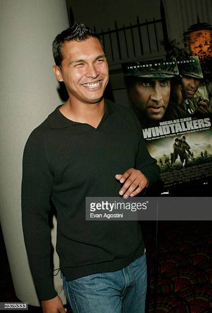 Actor Adam Beach at a special screening of Windtalkers at Loews Lincoln Square in New York City June 6 2002 Photo Evan Agostini/Getty Images
