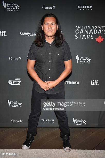 Actor Adam Beach attends the 3rd Annual 'An Evening With Canada's Stars' at Four Seasons Hotel Los Angeles at Beverly Hills on February 25 2016 in...