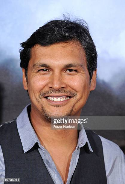 Actor Adam Beach attends the Premiere of Universal Pictures 'Cowboys Aliens' during ComicCon 2011 at San Diego Civic Theatre on July 23 2011 in San...