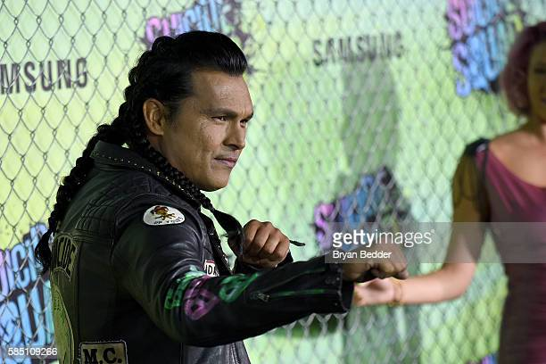 Actor Adam Beach attends the Suicide Squad premiere sponsored by Carrera at Beacon Theatre on August 1 2016 in New York City