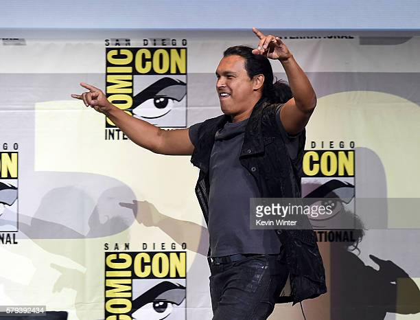 Actor Adam Beach attends the Warner Bros Presentation during ComicCon International 2016 at San Diego Convention Center on July 23 2016 in San Diego...