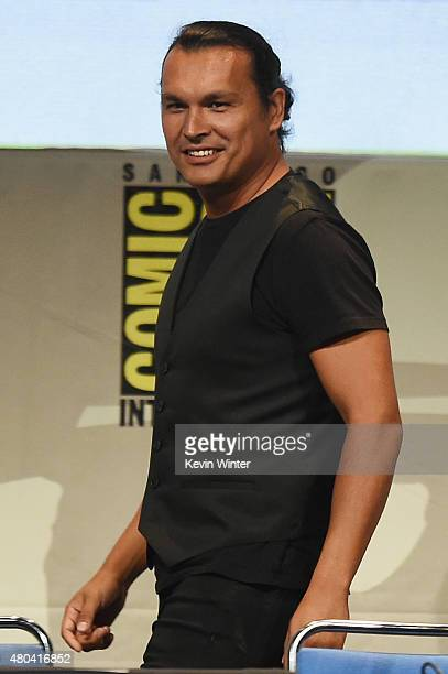 Actor Adam Beach attends the Warner Bros 'Suicide Squad' presentation during ComicCon International 2015 at the San Diego Convention Center on July...