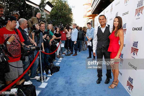 Actor Adam Beach attends the world premiere of Crackle's Joe Dirt 2 Beautiful Loser at Sony Pictures Studios on Wednesday June 24 2015 in Culver City...