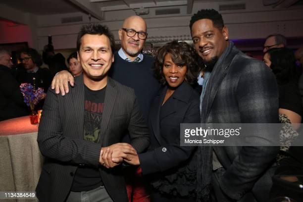 Actor Adam Beach director Clark Johnson actress Alfre Woodard and actor Blair Underwood attend 'Juanita' Special Screening on March 07 2019 in New...