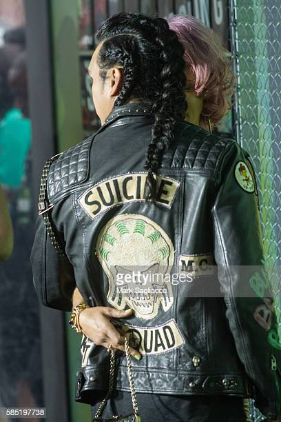 Actor Adam Beach fashion detail attends the 'Suicide Squad' World Premiere at The Beacon Theatre on August 1 2016 in New York City