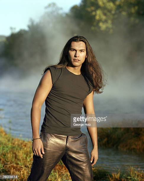 Actor Adam Beach is photographed for People Magazine on October 5 1998 in Phoenicia New York