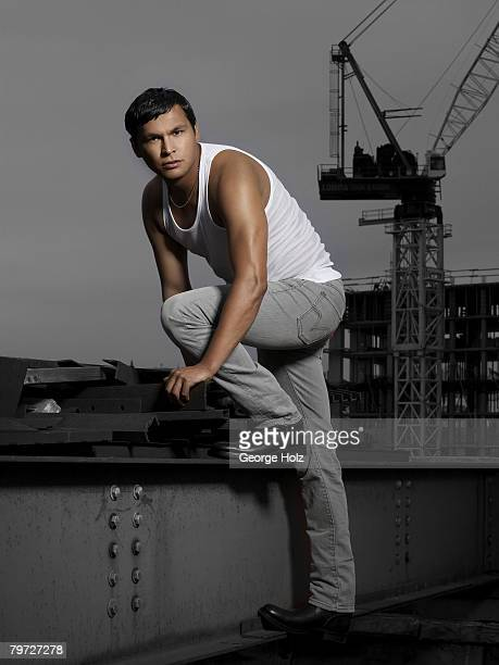Actor Adam Beach poses at a portrait session for People Magazine on September 14 2007 in New York City PUBLISHED IMAGE