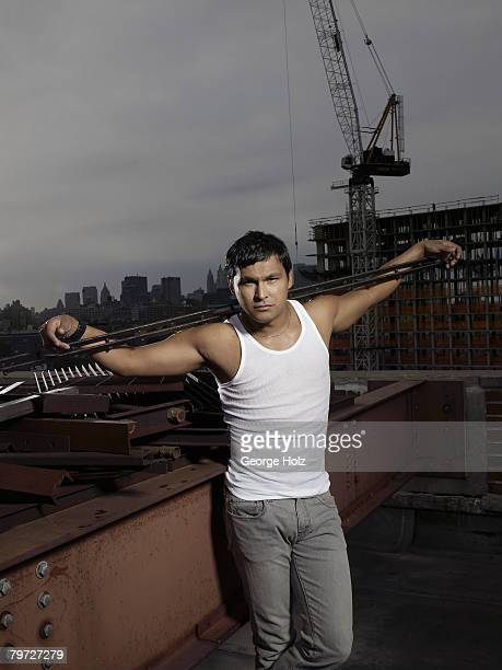 Actor Adam Beach poses at a portrait session for People Magazine on September 14 2007 in New York City