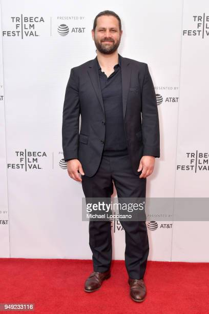 Actor Adam Bousdoukos attends the screening of 'Smuggling Hendrix' during the Tribeca Film Festival at Cinepolis Chelsea on April 20 2018 in New York...