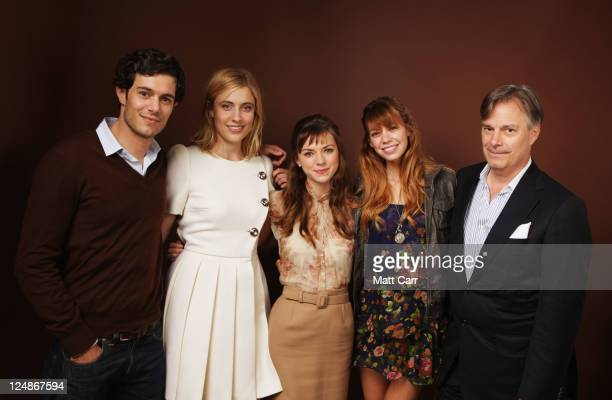 Actor Adam Brody Actress Greta Gerwig Actress Carrie MacLemore Actress Analeigh Tipton and Director Whit Stillman of 'Damsels In Distress' poses...