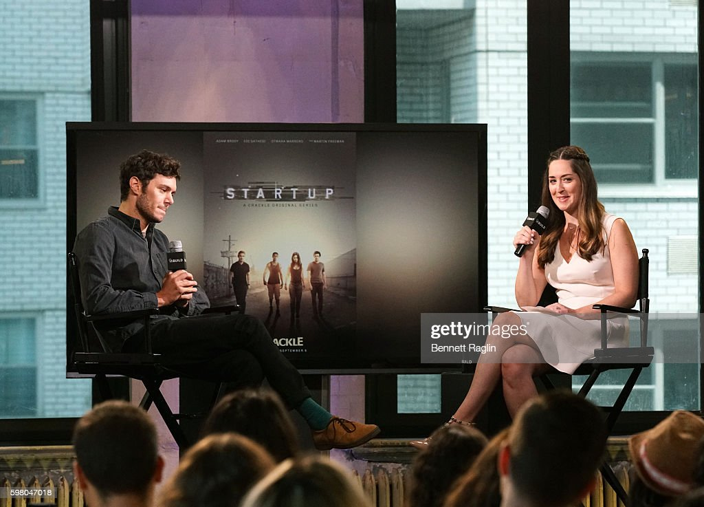 Actor Adam Brody and Leigh Blickely attend Build Series at AOL HQ on August 31, 2016 in New York City.
