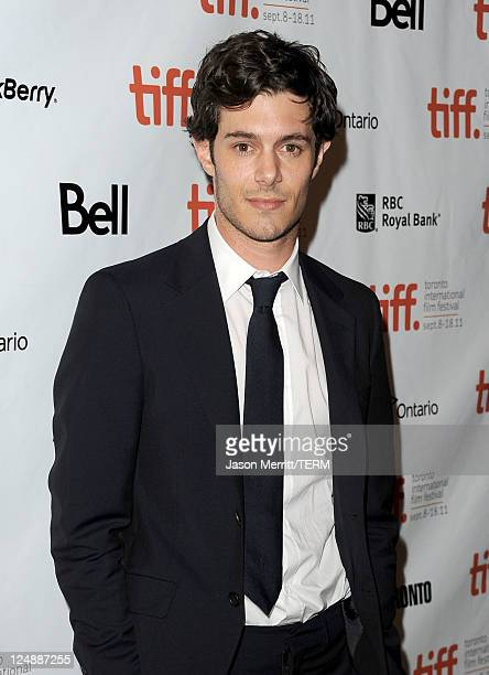 Actor Adam Brody arrives at Damsels In Distress Premiere at The Elgin during the 2011 Toronto International Film Festival on September 13 2011 in...