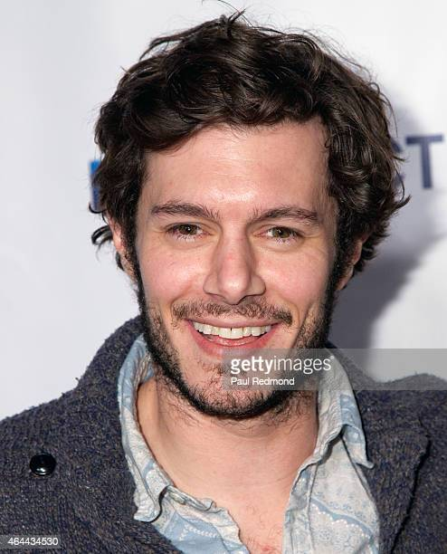 Actor Adam Brody arrives at DirecTV's new comedy 'Billy Billie' Series Premiere at The Lot on February 25 2015 in West Hollywood California