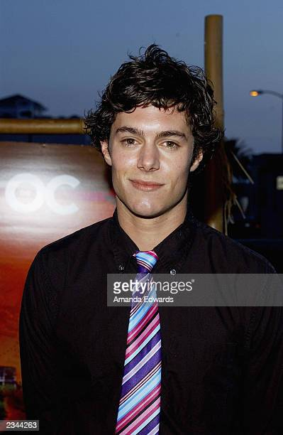 Actor Adam Brody arrives at 'The OC' kickoff party at the Viceroy on July 29 2003 in Santa Monica California