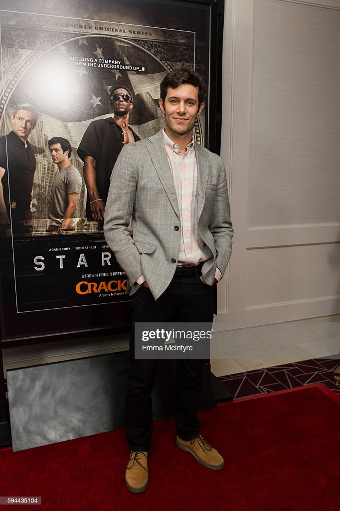 Actor Adam Brody arrives at the premiere of Crackle's 'Startup' at The London Hotel on August 23, 2016 in West Hollywood, California.