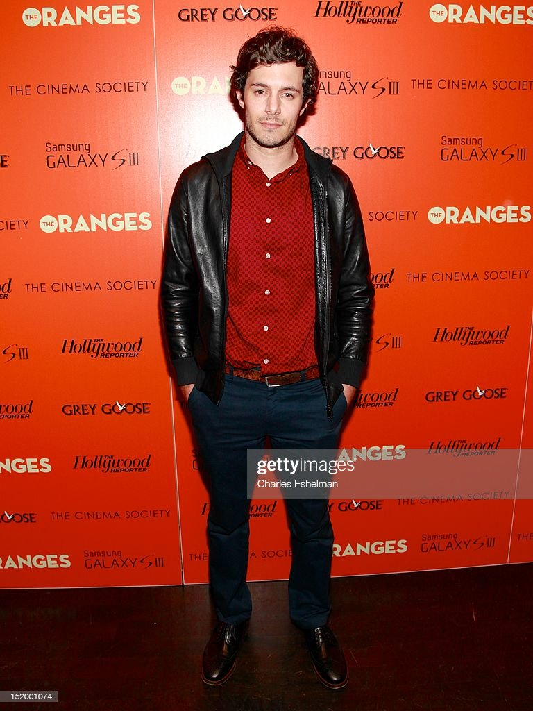 Actor Adam Brody attends The Cinema Society with The Hollywood Reporter & Samsung Galaxy S III host a screening of 'The Oranges' at Tribeca Screening Room on September 14, 2012 in New York City.