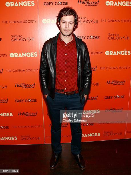 Actor Adam Brody attends The Cinema Society with The Hollywood Reporter Samsung Galaxy S III host a screening of 'The Oranges' at Tribeca Screening...