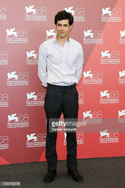 Actor Adam Brody attends the Damsel In Distress Photocall during the 68th Venice International Film Festival at Palazzo del Casino on September 10...