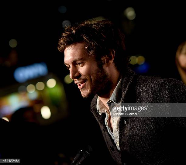 Actor Adam Brody attends the premiere of DirecTv's Billy Billie at The Lot on February 25 2015 in West Hollywood California