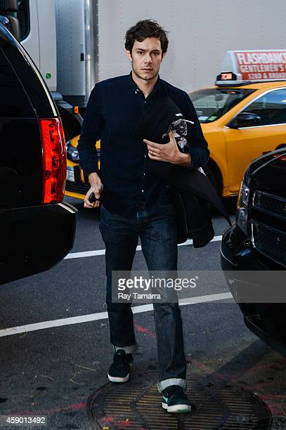 Actor Adam Brody enters the 'Today Show' taping at the NBC Rockefeller Center Studios on November 14 2014 in New York City