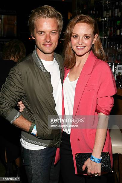 Actor Adam Campbell and wife actress Jayma Mays attend the premiere party for the cast of ABC's new sitcom MIXOLOGY at Mixology101 Planet Dailies on...