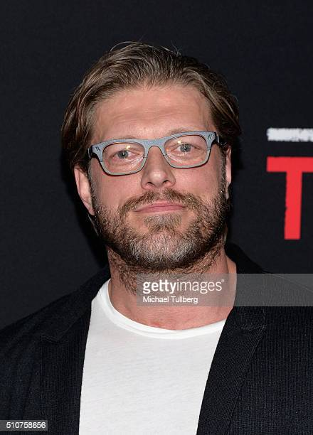 Actor Adam Copeland attends the premiere of Open Road's new film 'Triple 9' at Regal Cinemas LA Live on February 16 2016 in Los Angeles California
