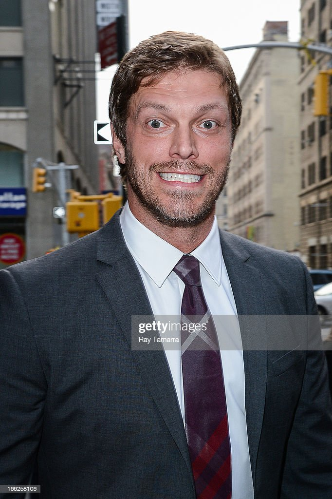 Actor Adam Copeland leaves his Soho hotel on April 10, 2013 in New York City.