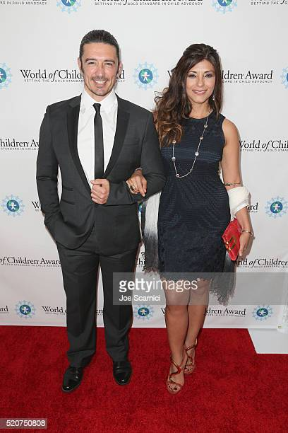 Actor Adam Croasdell and Alicia Free attend World Of Children Award 2016 Alumni Honors at Montage Beverly Hills on April 12 2016 in Beverly Hills...