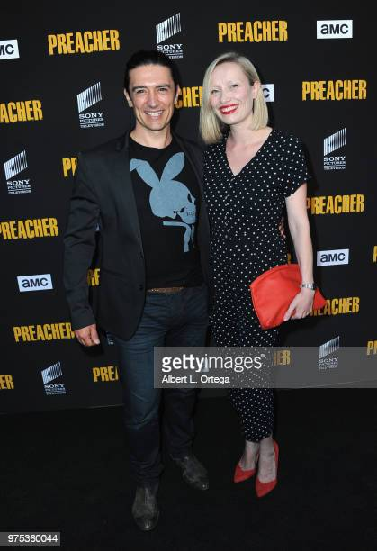 Actor Adam Croasdell and guest arrive for the Premiere Of AMC's 'Preacher' Season 3 held at The Hearth and Hound on June 14 2018 in Los Angeles...