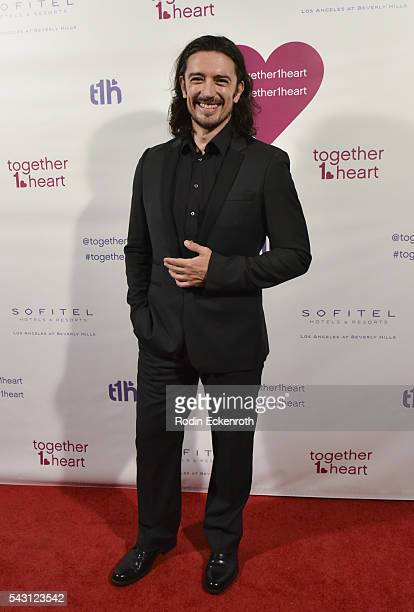 Actor Adam Croasdell arrives at together1heart launch party hosted by AnnaLynne McCord at Sofitel Hotel on June 25 2016 in Los Angeles California